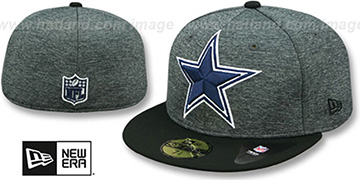 Cowboys TC HEATHER-HUGE Grey-Black Fitted Hat by New Era