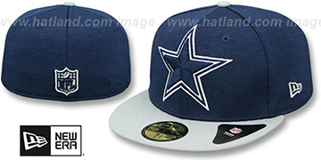 Cowboys HEATHER-HUGE Navy-Grey Fitted Hat by New Era