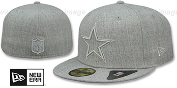 Cowboys HEATHER TWISTED FRAME Grey Fitted Hat by New Era