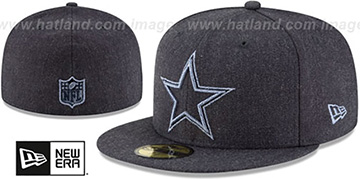 Cowboys HEATHER TWISTED FRAME Navy Fitted Hat by New Era