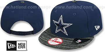 Cowboys 'HEATHER-VIZE SNAPBACK' Navy Fitted Hat by New Era