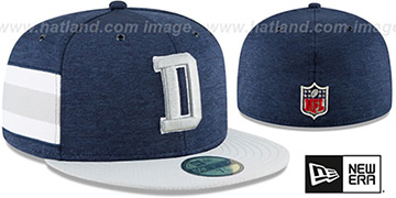 Cowboys HOME ONFIELD STADIUM Navy-Grey Fitted Hat by New Era