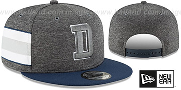 Cowboys HOME ONFIELD STADIUM SNAPBACK Grey-Navy Hat by New Era