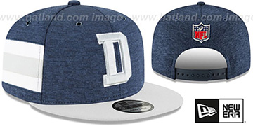 Cowboys HOME ONFIELD STADIUM SNAPBACK Navy-Grey Hat by New Era
