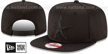 Cowboys 'JERSEY MESH TONAL SNAPBACK' Black Hat by New Era