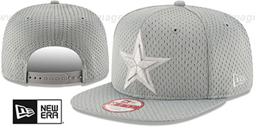 Cowboys 'JERSEY MESH TONAL SNAPBACK' Grey Hat by New Era