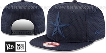 Cowboys 'JERSEY MESH TONAL SNAPBACK' Navy Hat by New Era