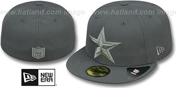 Cowboys 'LEAGUE BASIC TONAL' Charcoal Fitted Hat by New Era