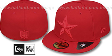Cowboys 'LEAGUE BASIC TONAL' Red Fitted Hat by New Era