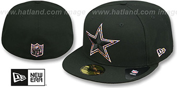 Cowboys 'LOGO-CRAZE' Black Fitted Hat by New Era