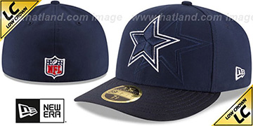 Cowboys LOW-CROWN STADIUM SHADOW Navy Fitted Hat by New Era
