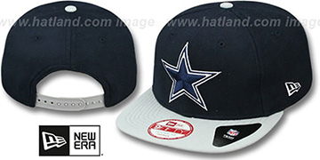 Cowboys 'MELTON MOTION SNAPBACK' Navy-Grey Hat by New Era
