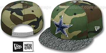 Cowboys METRIC-VIZA SNAPBACK Army-Grey Hat by New Era