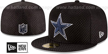 Cowboys MINI-CHECKED Black Fitted Hat by New Era