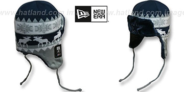 Cowboys MOOSER TRAPPER Navy-Grey Knit Hat by New Era