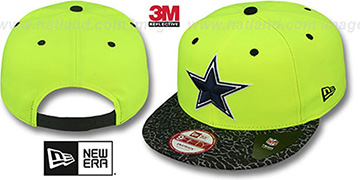 Cowboys 'NEON REFLECT HOOK SNAPBACK' Yellow Hat by New Era