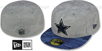 Cowboys 'NFL CAMO-2-CAMO' Grey-Blue Fitted Hat by New Era