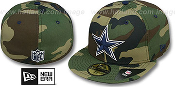 Cowboys 'NFL CAMO-POP' Army-Navy Fitted Hat by New Era