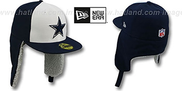 Cowboys 'NFL-DOGEAR' Navy-White Fitted Hat by New Era