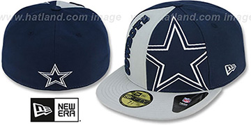 Cowboys 'NFL JUMBO DOUBLER' Navy-Grey Fitted Hat by New Era