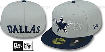 Cowboys 'TEAM TRADITION' Grey-Navy Fitted Hat by New Era