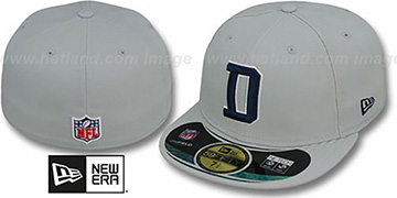 Cowboys 'NFL STADIUM' D Grey Fitted Hat by New Era