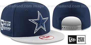 Cowboys 'NFL STAR-TRIM SNAPBACK' Navy-Grey Hat by New Era