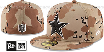 Cowboys NFL TEAM-BASIC Desert Storm Camo Fitted Hat by New Era