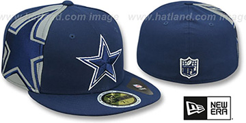 Cowboys 'PANEL FLECT' Navy Fitted Hat by New Era