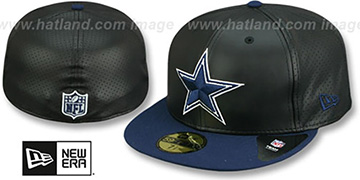 Cowboys 'PERFECTLY STATED' Black-Navy Fitted Hat by New Era