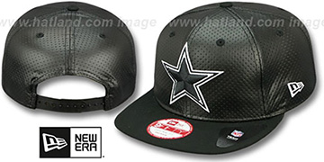 Cowboys 'PERFORATED PROPERTY SNAPBACK' Black Hat by New Era
