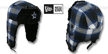 Cowboys 'PLAID BOMBER' Trapper Hat
