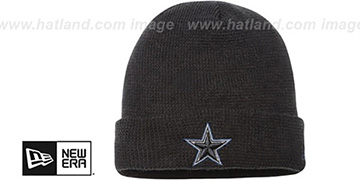 Cowboys POP WAFFLER Black Knit Beanie Hat by New Era
