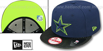 Cowboys 'PROJECTOR SNAPBACK' Navy-Black Hat by New Era