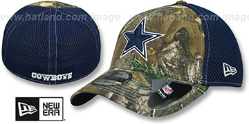 Cowboys 'REALTREE NEO MESH-BACK' Navy Flex Hat by New Era