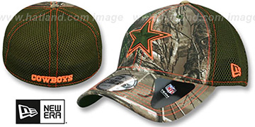 Cowboys REALTREE NEO MESH-BACK Olive Flex Hat by New Era