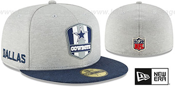 Cowboys ROAD ONFIELD STADIUM Grey-Navy Fitted Hat by New Era