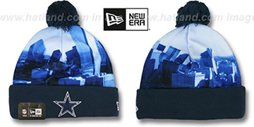 Cowboys 'SCAPE SHOT' Knit Beanie Hat by New Era