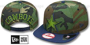 Cowboys 'SHADOW SLICE SNAPBACK' Army-Navy Hat by New Era