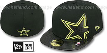 Cowboys 'SHIMMER FILL' Black Fitted Hat by New Era