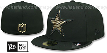 Cowboys SHIMMER-XL Black Fitted Hat by New Era