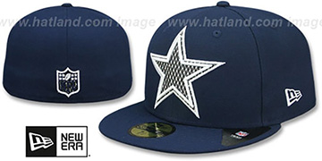 Cowboys SHIMMER-XL Navy Fitted Hat by New Era