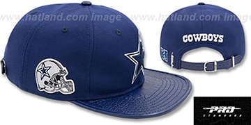 Cowboys SIDE HELMET STRAPBACK Navy Hat by Pro Standard