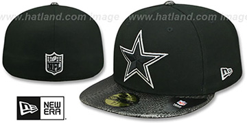 Cowboys SNAKESKIN SLEEK Black Fitted Hat by New Era