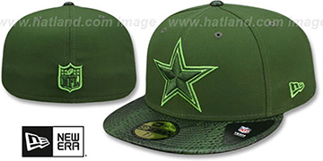 Cowboys SNAKESKIN SLEEK Green Fitted Hat by New Era
