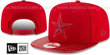 Cowboys 'SNAKESKINZ SNAPBACK' Red-Red Hat by New Era