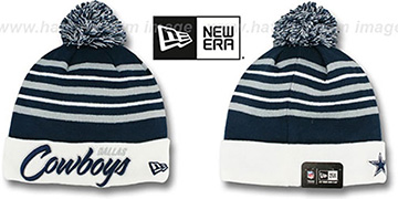 Cowboys 'SNOW STRIPE SCRIPT' Knit Beanie Hat by New Era