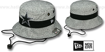 Cowboys 'SPECKLED BUCKET' Grey-Black Hat by New Era