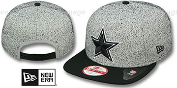 Cowboys 'SPECKLED SNAPBACK' Grey-Black Hat by New Era