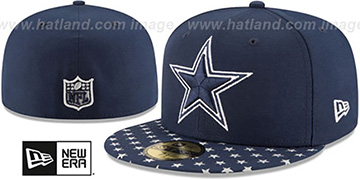 Cowboys 'STARRY' Navy-Grey Fitted Hat by New Era